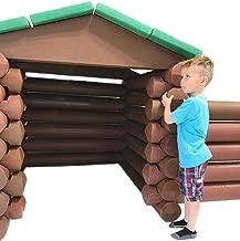 Big Logz Mega Foam Builder Playhouse Classic Style Log Shaped Interlocking Lightweight Blocks Activity Play Set