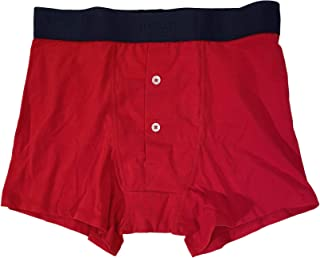 Underwear Men's RED 2 Button Cotton Stretch Trunks Boxer Briefs Small