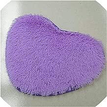 Pure Heart Shaped Thick Bathroom Carpet For Living Room Anti Slip Bath Mat Cushion Ornaments Home Decor Bathroom Accessories,Brown,400Mmx800Mm