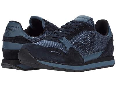 Emporio Armani Eagle Sneaker (Slate/Blue) Men