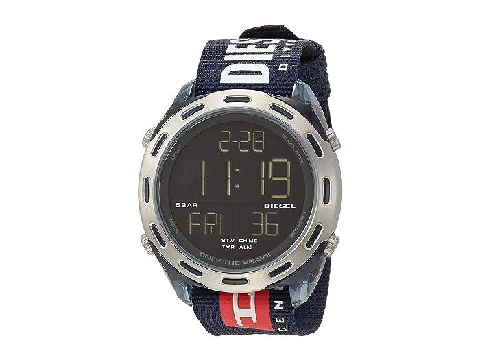 Diesel  Crusher Digital Watch (Blue) Watches