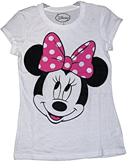 Disney Classic Minnie Mouse Womens Pajama T Shirt Top - White