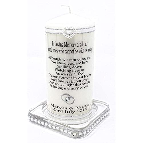 Cellini candles Wedding Absence Candle Personalised