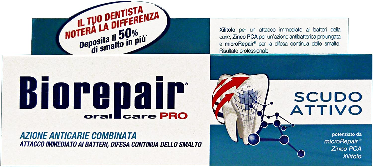Biorepair Active Shield Toothpaste Imported Ranking TOP3 from Italy Sacramento Mall -