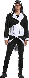 Unisex Halloween Cosplay Costume Jacket Coat with Detachable Hood Adult Kids