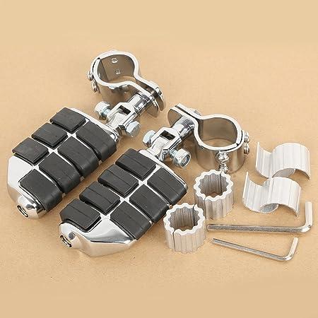 Perfk 1 Paar Fußrasten Fußrastenpedale Motor Sturzbügel Faltbar Fußstützen Für Yamaha Auto