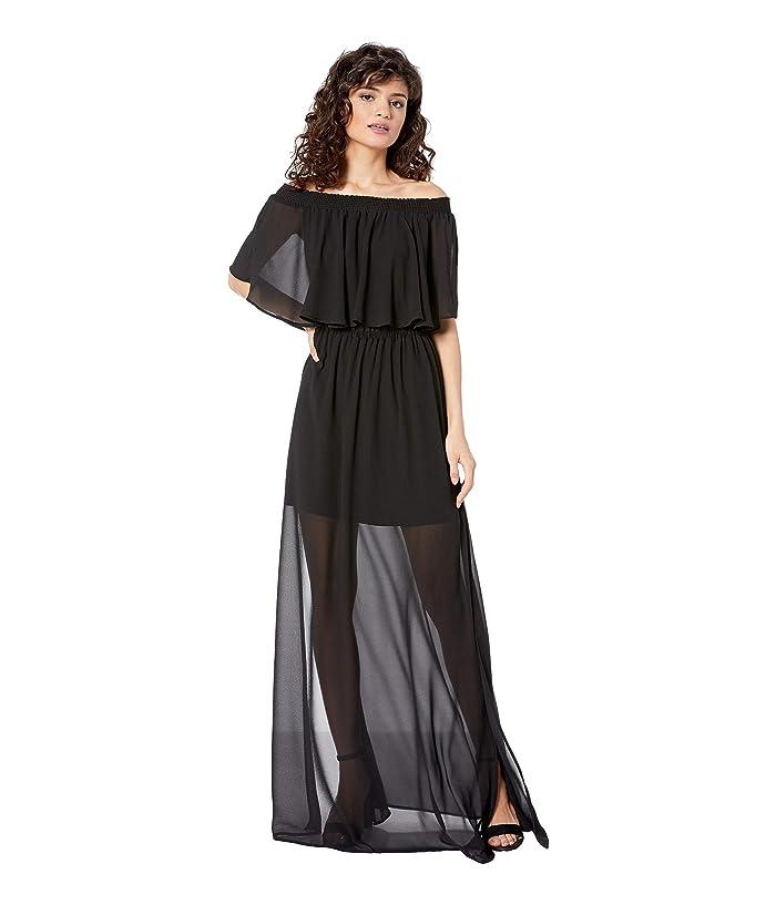 Show Me Your Mumu  Hacienda Dress (Black Chiffon) Womens Dress