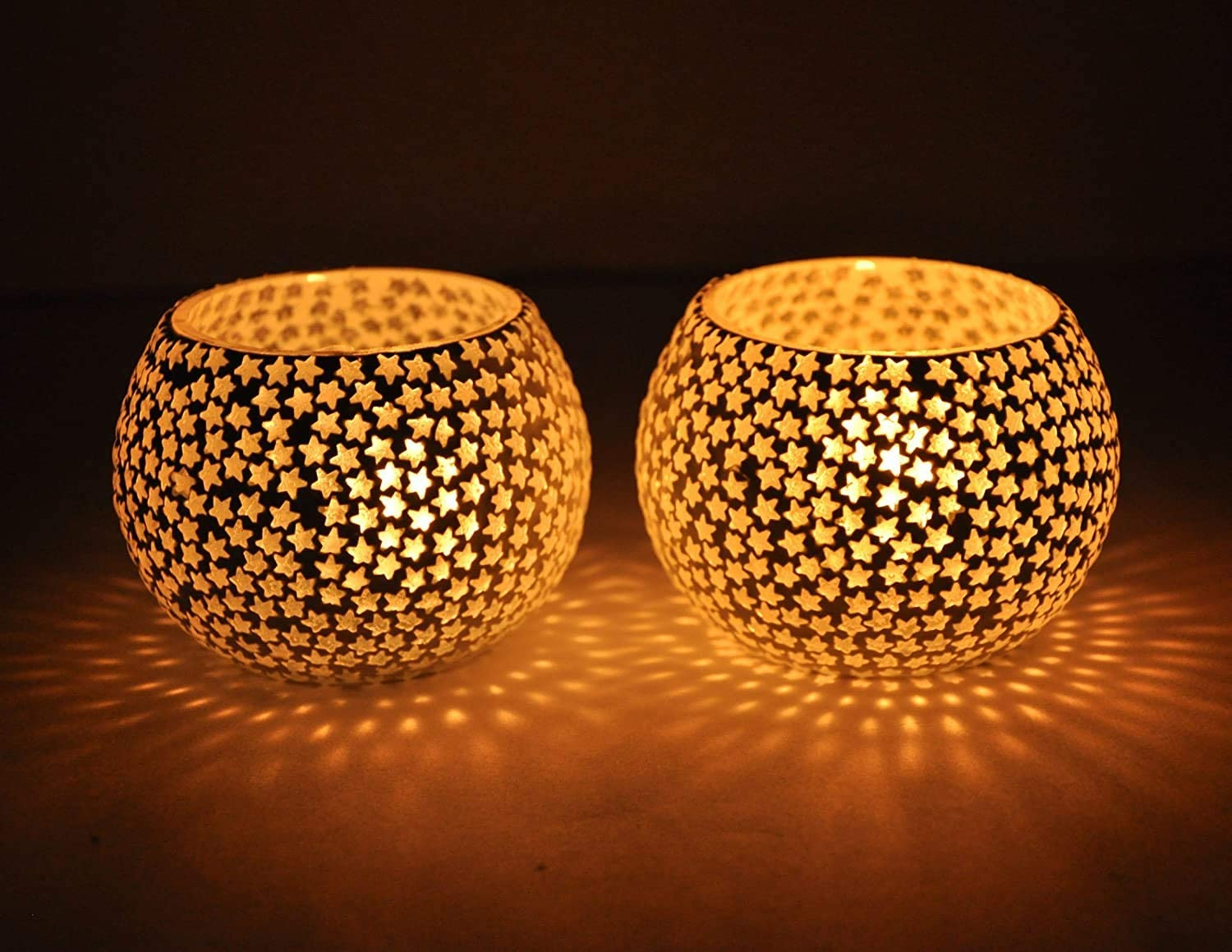 Mosaic Glass Product Tealight Candle Holders Pack of service Lights 2 Decora -
