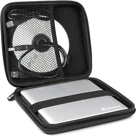 Salcar 870505 - Custodia rigida portatile, resistente alle vibrazioni, Nero