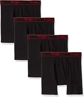 Champion Men's Elite X-Temp Boxer Briefs (Large Black) 4 pack
