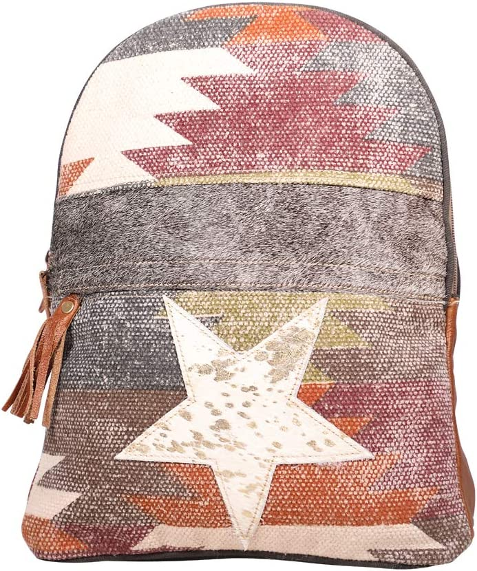 Myra Bags Superior 2021 new Canvas leather Backpack S-1927 Rug Max 52% OFF Multic
