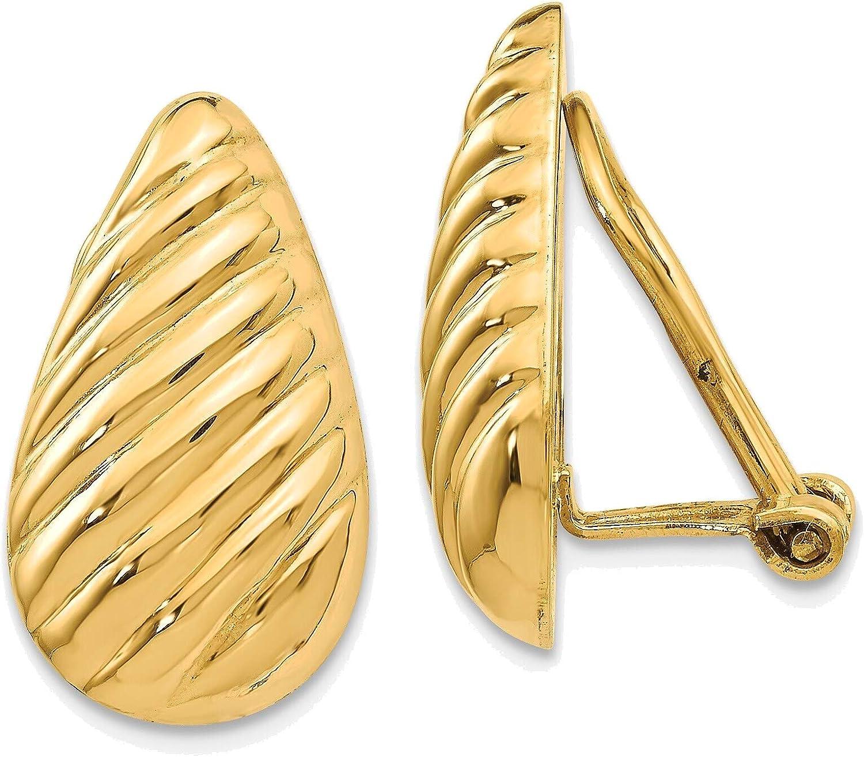 Non-pierced Fancy Earrings in 14K Yellow Gold