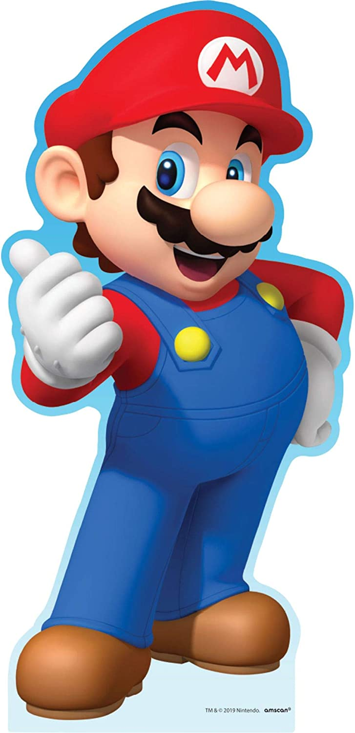Party lowest price City Finally resale start Super Mario Life-Size Cardboard Bir 3ft Cutout Tall