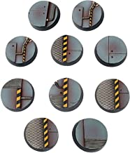 War World Gaming Industry of War Sci-Fi Industrial Round Bases x 10 (25mm) – 28mm Wargaming Terrain Model Diorama