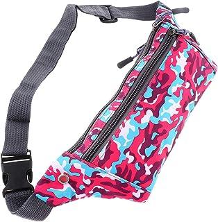 kesoto Waterproof Running Belt Gym Fitness Travel Waist Pouch Bum Bag Men Women - Pink