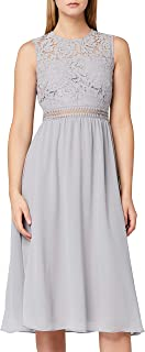 TRUTH & FABLE Damen Midi Chiffon-Kleid mit A-Linie