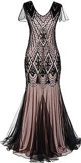 فستان Gatsby Flapper للنساء من M MAYEVER Mayever فستان للحفلات الراقصة وحفلة حورية البحر حاشية للحفلات المسائية A80