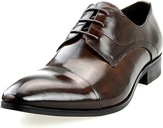 [ルシウス] メンズ 革靴 本革 ビジネスシューズ 外羽根 内羽根 レースアップ ドレスシューズ 【AZ368B】