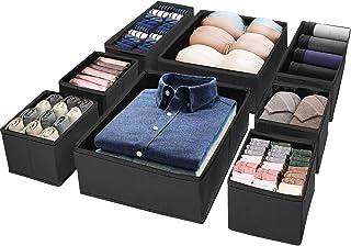 Puricon (8 Set) Drawer Divider Dresser Organization, Foldable Closet Organizer Underwear Basket Cubes Containers for Stori...