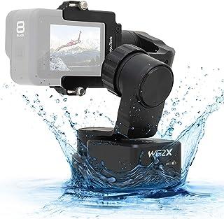 FeiyuTech 公式 WG2X 3軸ジンバル GoPro Hero 8/7/6/5/4 ウェアラブルスタビライザー バイク 自転車 ヘルメット/カーマウントジンブル アクションカメラ用 Hero 8アダプターと互換 Hero 8カメラ用