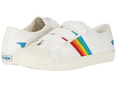 Gola Coaster Rainbow Velcro (Off-White/Multi) Women