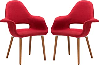 Poly and Bark Barclay Dining Chair in Red (Set of 2)