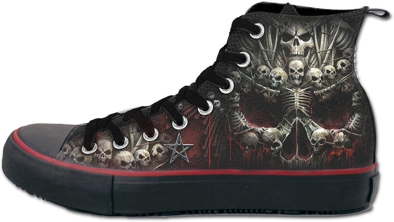 Spiral Mens - Death Bones - Sneakers - Men's High Top Laceup