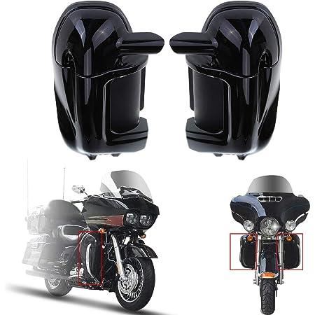 Triclicks Schwarz Entlüftet Verkleidung Deflector Trim Für 2009 2016 Harley Street Glide Tri Electra Road King Auto