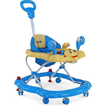 Luvlap Sunshine Baby Walker, Height Adjustable with Light & Music Toys, 6m+ (Blue)