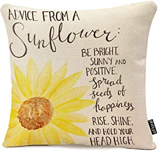 """Best oFloral Decorative Advice from A Sunflower Print Throw Pillow Cases for Sofa Bedroom Pillow Covers Gift Household Pillowcase 18"""" X 18"""" (Only Pillowcase) Review"""