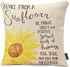oFloral Decorative Advice from A Sunflower Print Throw Pillow Cases for Sofa Bedroom Pillow Covers Gift Household Pillowca...