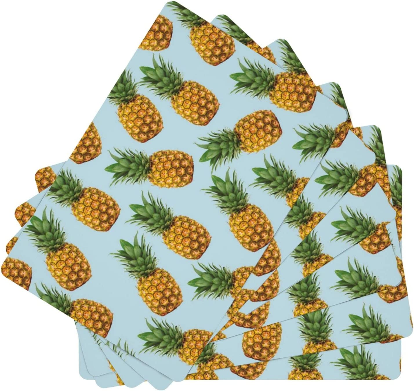 Pineapple Leather New Free Shipping Place Mats for Dining Set of 6 67% OFF of fixed price Washable Table