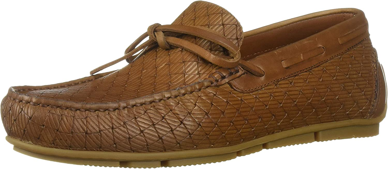 Aquatalia Men's Brian LGE Woven Embos CLF Driving Style Loafer