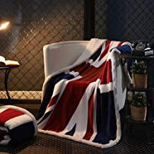 Flannel Blanket Cloud Blanket air Conditioning Blanket Flannel Blanket Coral Velvet American Flag Two Sizes,B,130 * 160cm