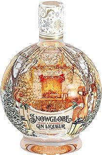 Snow Globe Gin Liqueur, Orange & Gingerbread Gin Liqueur, 70cl, Illuminating Bottle