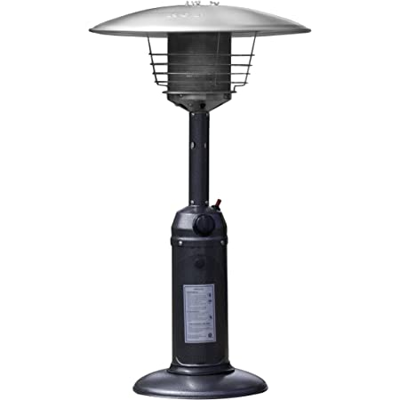 calentador de jard/ín de 13kW 45.000 BTU Calentadores de patio de acero inoxidable Anbull Calentador de patio calentador exterior /Área de calefacci/ón 20㎡ con ruedas