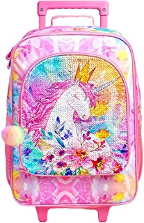 Kids Luggage, Unicorn Suitcase for Girls