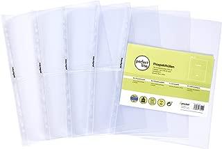 Sichthüllen 4-GETEILT Sammel /& Karten Hüllen perfect line 100 Prospekthüllen A4