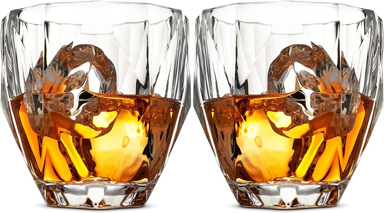 Max 53% OFF glass whiskey set Diamond Max 88% OFF Set 2 of
