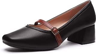 Ophelia Women's Mid Heel Dress Pumps - Square Toe One...