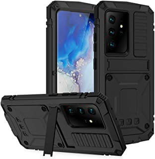 """Compatible with Samsung Galaxy S21 Plus 6.7"""" Metal Silicone case, Built-in Screen Protector&Stand,Waterproof, dustproof an..."""