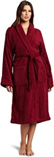 Superior Hotel & Spa Robe, 100% Premium Long-Staple Combed Cotton Unisex Bath Robe for Women and Men - Small, Burgundy