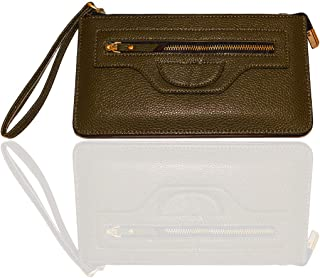 Carter Leatherworks Rodeo Womens PU Vegan Leather Wristlet Wallet Clutch Purse Fits Any Smartphone