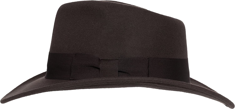 Silver Canyon Boot and Clothing Company Indiana Interior del Sombrero de Fedora del Fieltro Crushable para Hombre