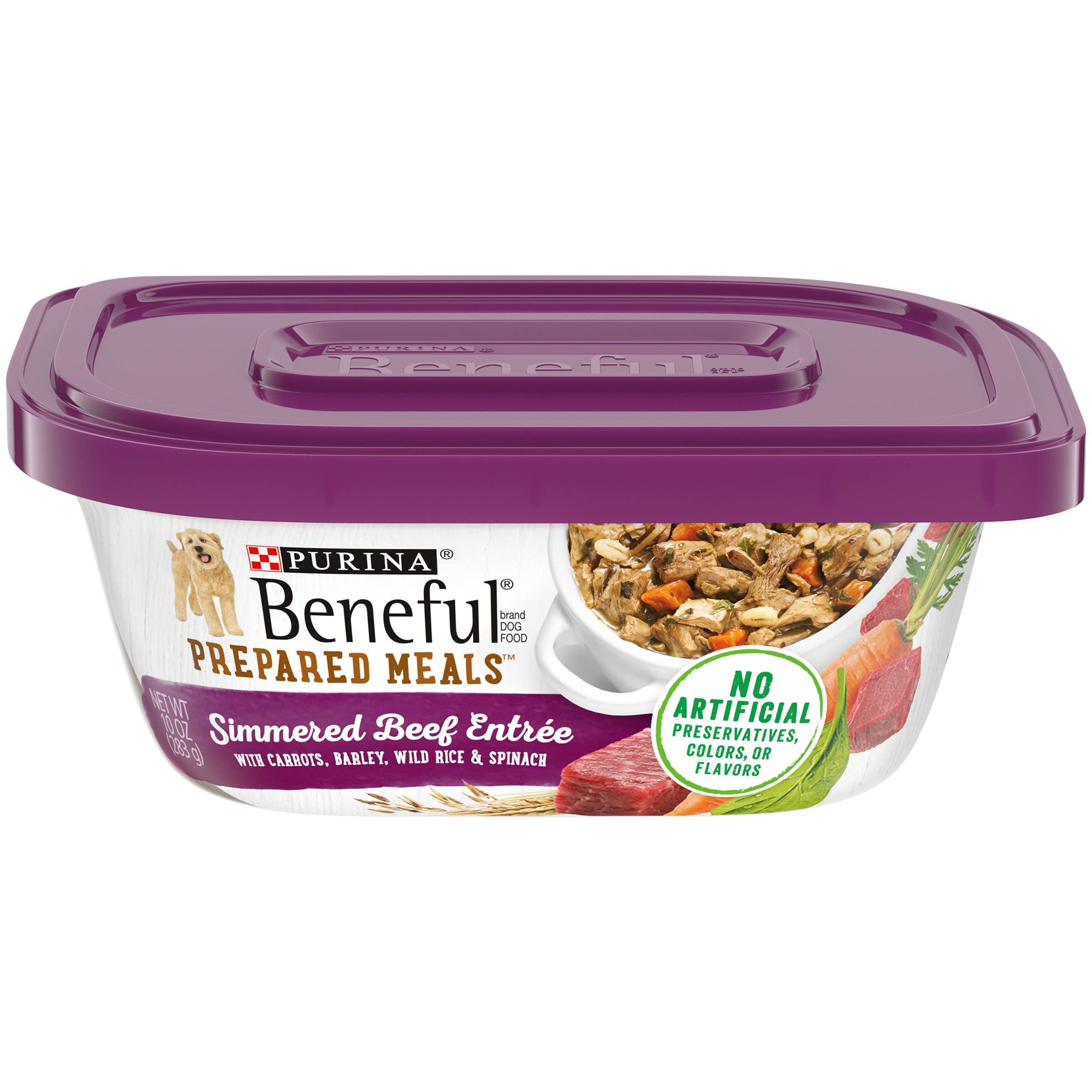 Purina Beneful Prepared Meals Adult Wet Dog Food - (8) 10 oz. Tubs
