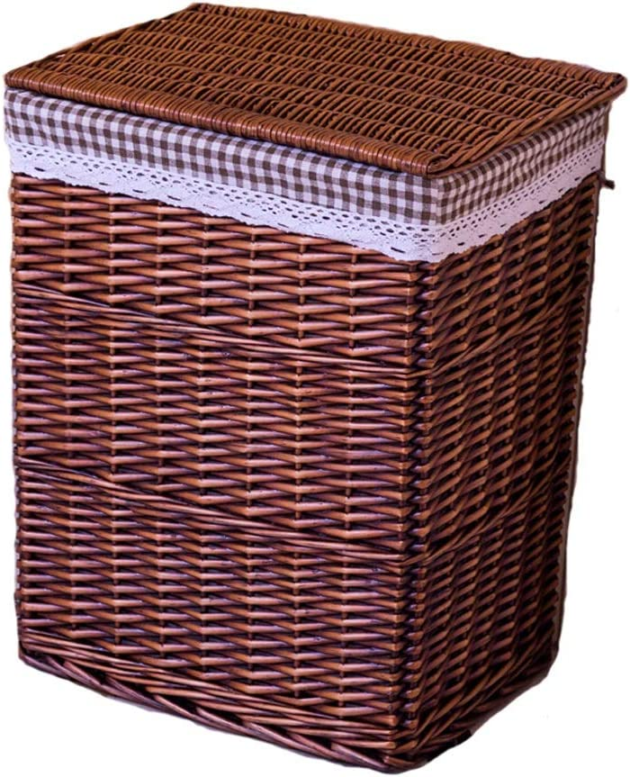 NYDZ Dirty service Basket Rattan Clothes Storage with Import Lid