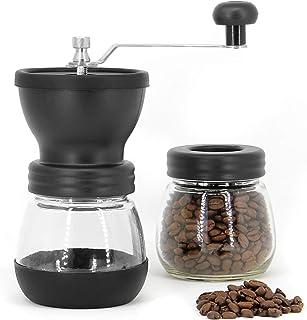 Manuell kaffebönekvarn | Justerbar keramisk kvarn för grovhet Handhållen kaffekvarn | Kompakt vev för hem, kontor och reso...