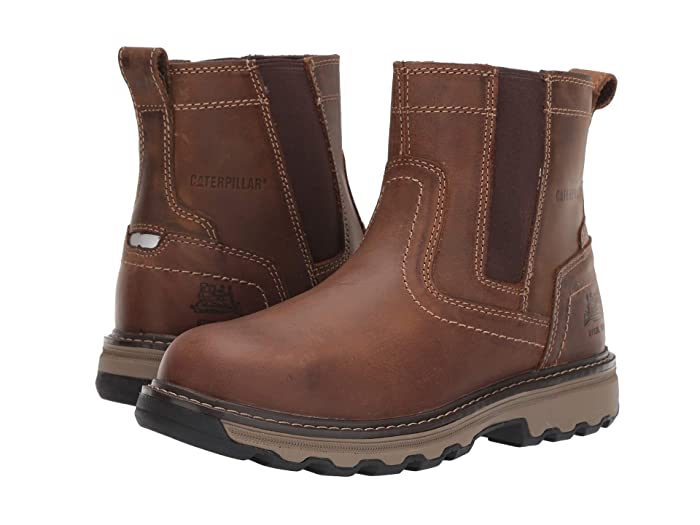 Caterpillar  Pelton Steel Toe (Dark Beige) Mens Work Pull-on Boots