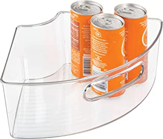 iDesign Plastic Lazy Susan Cabinet Storage Bin, BPA-Free 1/4 Wedge Container for Kitchen, Pantry, Counter, 12.56