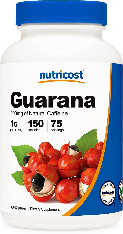 Nutricost Guarana 1000mg Serving 150 A surprise price is realized - Virginia Beach Mall Vegetarian Capsules Natu